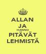 ALLAN JA HANNO PITÄVÄT LEHMISTÄ - Personalised Poster A4 size