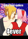 Allen and sakura  4ever - Personalised Poster A4 size
