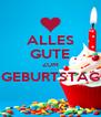 ALLES GUTE ZUM GEBURTSTAG  - Personalised Poster A4 size