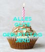 ALLES GUTE ZUM GEBURTSTAG JENS - Personalised Poster A4 size