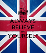 ALWAYS BELIEVE IN YOURSELF  - Personalised Poster A4 size