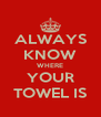 ALWAYS KNOW WHERE YOUR TOWEL IS - Personalised Poster A4 size