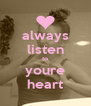 always listen to youre heart - Personalised Poster A4 size