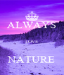 ALWAYS  LOVE  NATURE - Personalised Poster A4 size