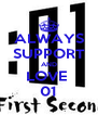 ALWAYS SUPPORT AND LOVE  01 - Personalised Poster A4 size