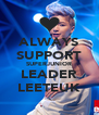 ALWAYS SUPPORT SUPERJUNIOR LEADER LEETEUK - Personalised Poster A4 size