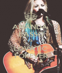 AMANDA  BASSO IS LOVATIC FOREVER - Personalised Poster A4 size