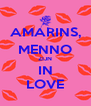 AMARINS, MENNO ZIJN IN LOVE - Personalised Poster A4 size