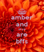 amber and skye are bffs - Personalised Poster A4 size