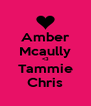 Amber Mcaully <3 Tammie Chris - Personalised Poster A4 size