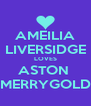 AMEILIA LIVERSIDGE LOVES ASTON  MERRYGOLD - Personalised Poster A4 size