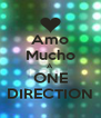 Amo Mucho A ONE DIRECTION - Personalised Poster A4 size