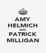 AMY HELMICH AND PATRICK MILLIGAN - Personalised Poster A4 size