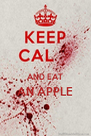 AND EAT AN APPLE   - Personalised Poster A4 size