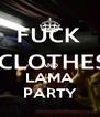 AND LAMA PARTY - Personalised Poster A4 size