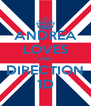 ANDREA LOVES ONE  DIRECTION 1D - Personalised Poster A4 size