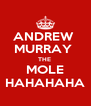 ANDREW  MURRAY  THE  MOLE HAHAHAHA - Personalised Poster A4 size