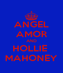 ANGEL AMOR AND HOLLIE  MAHONEY - Personalised Poster A4 size