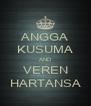 ANGGA KUSUMA AND VEREN HARTANSA - Personalised Poster A4 size