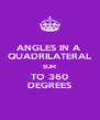 ANGLES IN A  QUADRILATERAL SUM TO 360 DEGREES - Personalised Poster A4 size