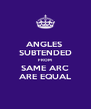 ANGLES  SUBTENDED FROM SAME ARC ARE EQUAL - Personalised Poster A4 size