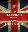 ANGRY AND HAPPINES BECOME LOVE THAT'S X-D - Personalised Poster A4 size