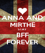 ANNA AND MIRTHE STAY BFF FOREVER - Personalised Poster A4 size