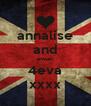 annalise and ewan 4eva xxxx - Personalised Poster A4 size