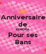 Anniversaire de KENDRA Pour ses 8ans - Personalised Poster A4 size