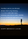 Another year in your life and  already that's a big blessing. You have celebrated many  birthdays and blown many candles  as you continue to add more years. On this special and joyous - Personalised Poster A4 size