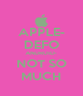 APPLE- DEFO ANDROID- NOT SO MUCH - Personalised Poster A4 size