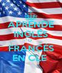 APRENDE INGLÉS O  FRANCÉS EN CLE  - Personalised Poster A4 size
