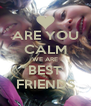 ARE YOU CALM WE ARE BEST FRIENDS - Personalised Poster A4 size