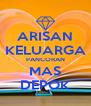 ARISAN KELUARGA PANCORAN MAS DEPOK - Personalised Poster A4 size