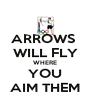 ARROWS  WILL FLY WHERE YOU AIM THEM - Personalised Poster A4 size