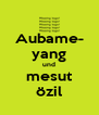 Aubame- yang und mesut özil - Personalised Poster A4 size