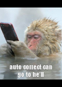 auto correct can go to he'll - Personalised Poster A4 size