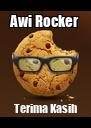 Awi Rocker Terima Kasih - Personalised Poster A4 size