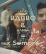 BABBO & BABBA = x Sempre - Personalised Poster A4 size