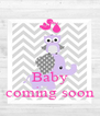 Baby coming soon - Personalised Poster A4 size