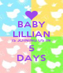 BABY LILLIAN IS JOINING US IN 5 DAYS - Personalised Poster A4 size