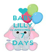 BABY LILLY IS ARRIVING IN  7 DAYS - Personalised Poster A4 size