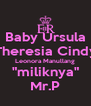 """Baby Ursula Theresia Cindy Leonora Manullang """"miliknya"""" Mr.P - Personalised Poster A4 size"""