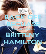BACK OFF BECUASE JUSTIN LOVES BRITTENY HAMILTON - Personalised Poster A4 size