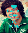 BACK  OFF  harry styles  IS MINE - Personalised Poster A4 size