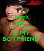 back off  TAYLOR CANIFF is MY BOYFRIEND  - Personalised Poster A4 size