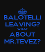 BALOTELLI LEAVING? WHAT ABOUT MR.TEVEZ? - Personalised Poster A4 size