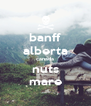 banff alberta canada nuts mare - Personalised Poster A4 size