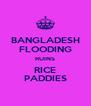 BANGLADESH FLOODING RUINS RICE PADDIES - Personalised Poster A4 size