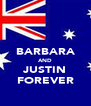 BARBARA AND JUSTIN FOREVER - Personalised Poster A4 size